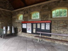 Outdoor waiting area Rowley Station