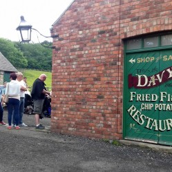People starting to queue for fish and chips!