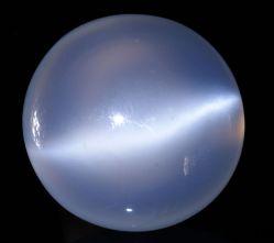 Polished moonstone cabochon. Author: Didier Descouens. Creative Commons