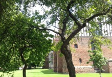 The Hall through the trees
