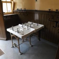 Village school cloakroom