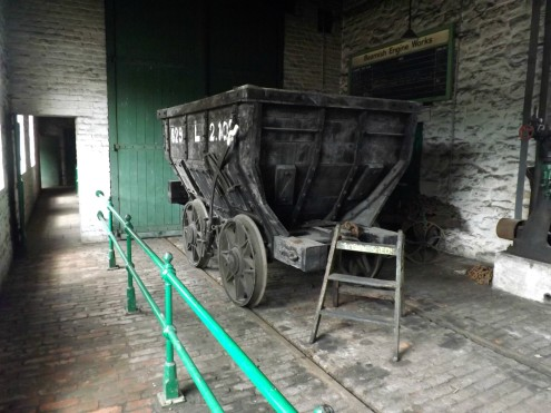 Wagon in the engine works at the village colliery