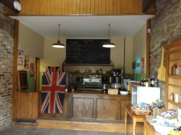WW2 style cafe in a barn at Home Farm