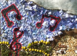 Close up of Elgar well dressing