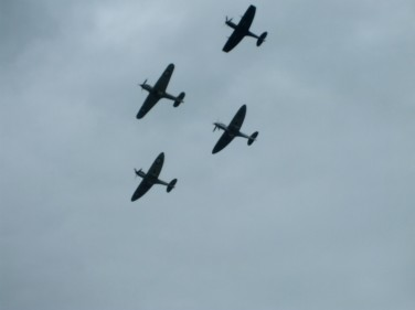 Hurricanes and Spitfires from RAF Coningsby, also in Lincolnshire