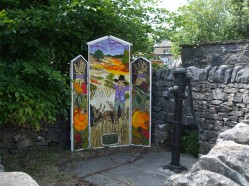 Peak Forest well dressing next to the water pump