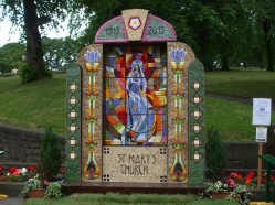 St Ann's Well Dressing in Central Buxton