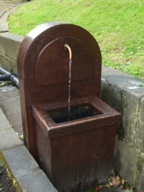 Temporary water supply while St Ann's Well is out of use.