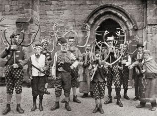 Players in the Abbots Bromley Horn Dance circa 1900. Author: Sir John Benjamin (1838-1914). Public Domain