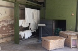 Drying washing in the wash house