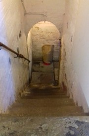Steps down to the cellars