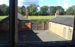 View of the women's workyard at the back of the Workhouse from the Mater's rooms