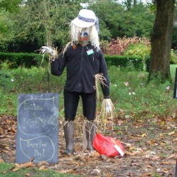 Welcoming Scarecrow at the front of the Hall