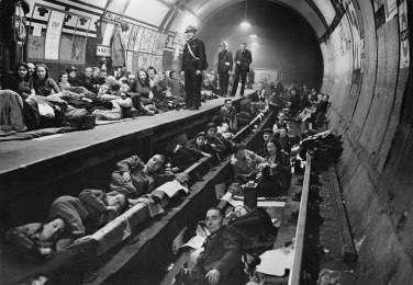 Aldwych tube station 1940. 79 tube stations were used as air raid shelters by Londoners but were not proof against a direct hit. Image created by the Imperial War Museum Public Domain