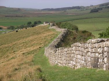 Hadrian's Wall, just east of Cawfield's Quarry, Northumberland. Oct. 2005 Author: Velella. Public Domain