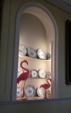 Long Gallery Flamingoes in a recess