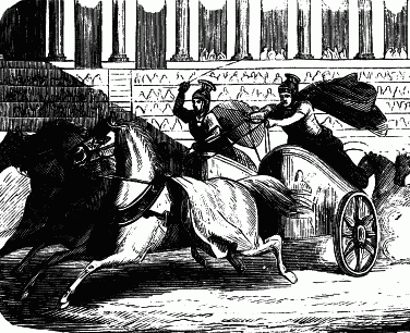 Chariot Races. Project Gutenberg's Young Folks' History of Rome, by Charlotte Mary Yonge (1823-1901) Public Domain