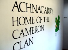 Cameron Clan sign in the Cameron Museum