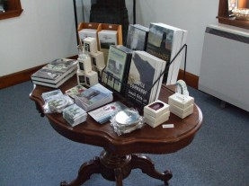 Information table in the Cameron Museum