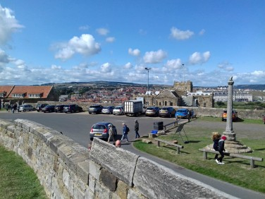 Looking back at Whitby from the abbey
