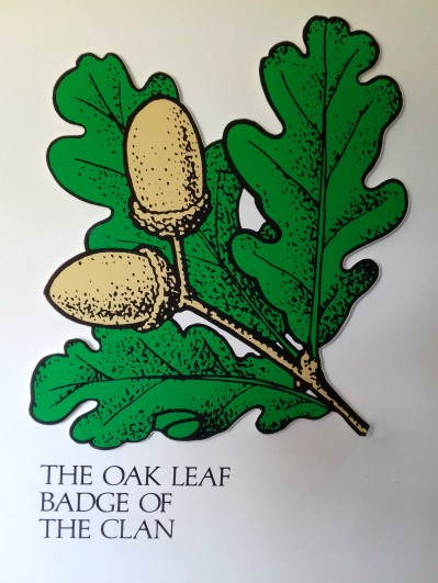 Oak leaf badge of Clan Cameron