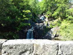 View of the waterfall from the bridge