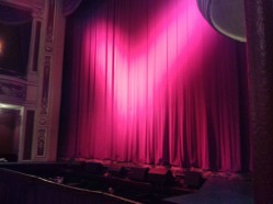 Curtain at the end of the show