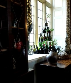 Dining Room tree of wine bottles