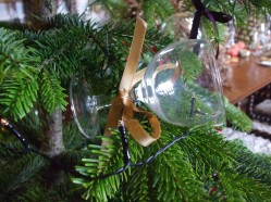 Wine glasses tree decorations dining room