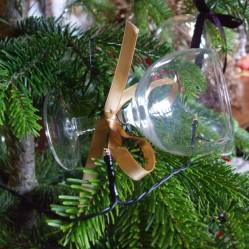 Wine glasses tree decorations dining room