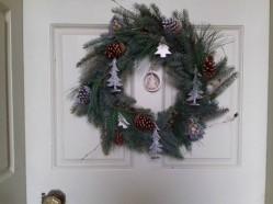 Wreath on the front door