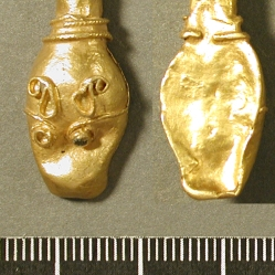 Gold Anglo Saxon pointer terminal, late 9th century. Photographer: Amy Downs, British Museum 2008