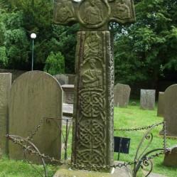 Anglo Saxon Cross in Eyam Churchyard