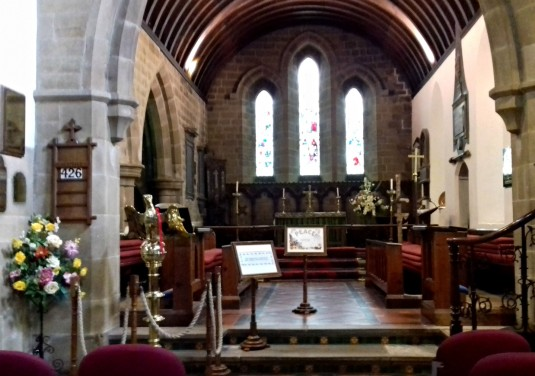 Inside Eyam Church 1