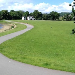 Robert's Park with Cricket Club in the distance