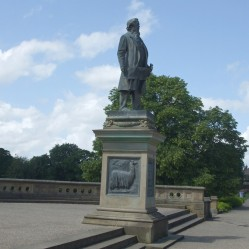 Statue of Titus Salt in the park he had created