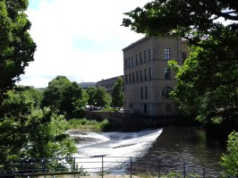 The Mill and the weir on the River Aire