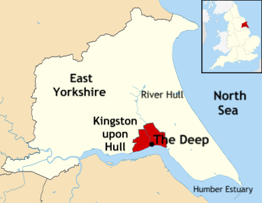 Location of The Deep in Hull