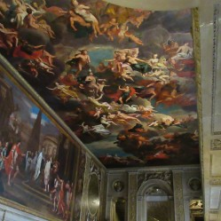 Painted Hall ceiling and upper wall