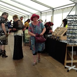 Stalls inside the tent