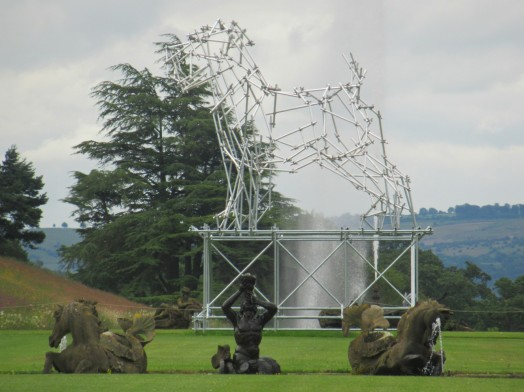 Temporary dog structure in the grounds