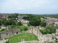 Inner bailey viewed from the battlements of the keep 1