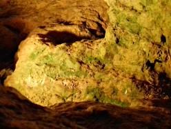 Malachite along the tunnels