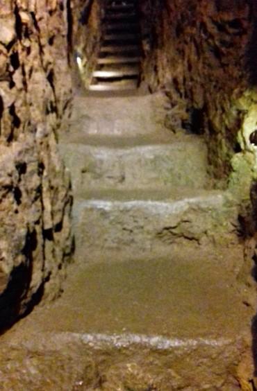 Steps inside the tunnels