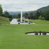 The Canal Pond and Emperor Fountain at Chatsworth