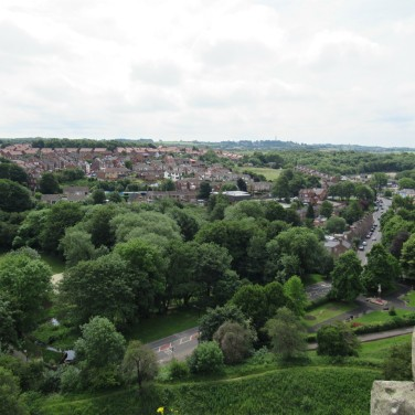 View towards Conisbrough from the rooftop