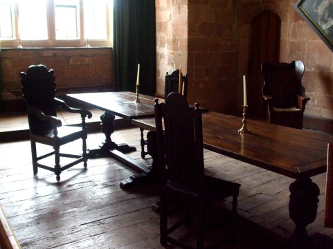 Ground floor dining room in Leicester's Gatehouse