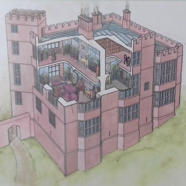 Diagram of Leicester's Building to show first and second storeys.